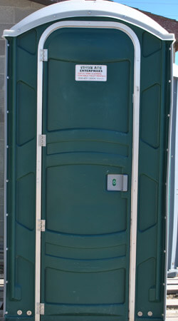 Green Port-A-Potty